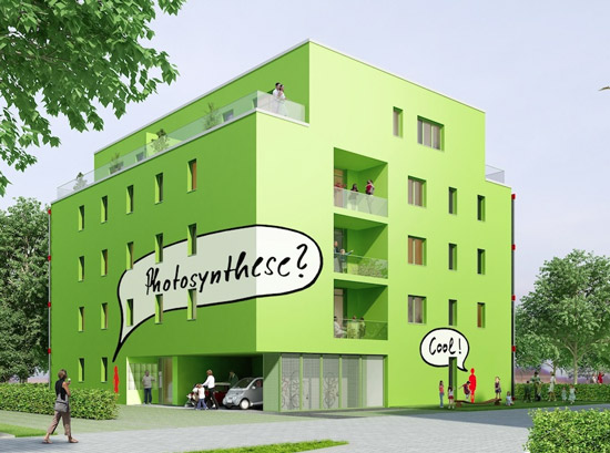 """World's First """"Living Building"""" Uses Algae to Provide Energy and Shade"""