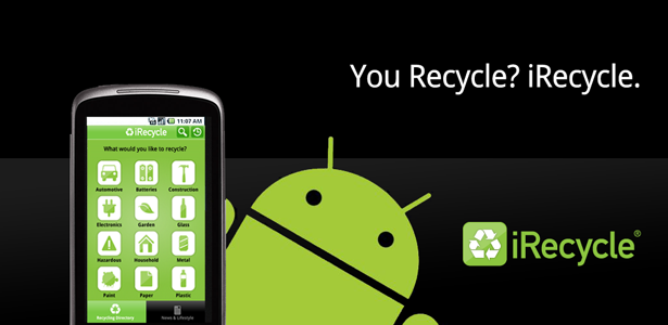 There's an app for that! iRecycle from Earth911.com let's you find recycling centers near you