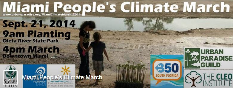 Miami People's Climate March – Sunday, September 21