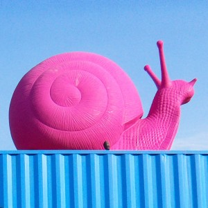 Pink Snail from Cracking Art Bridge Wynwood 2014