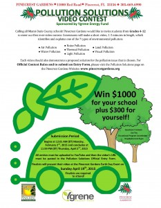 Pollution Solutions Video Contest flyer