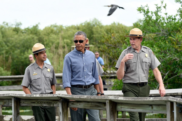"""In the words of Marjory Stoneman Douglas, who helped preserve this land: ""There are no other Everglades in the world."" But part of the reason we're here is because climate change is threatening this treasure and the communities that depend on it, which includes almost all of south Florida. And if we don't act, there may not be an Everglades as we know it."" {Susan Walsh