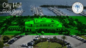 Miami City Hall Goes Green in Support of the Paris Climate Agreement