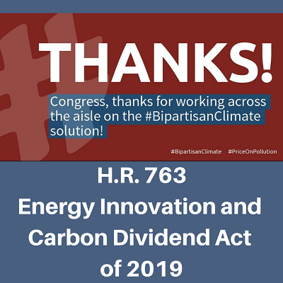 Thank You for Supporting the Energy Innovation & Carbon Dividend Act