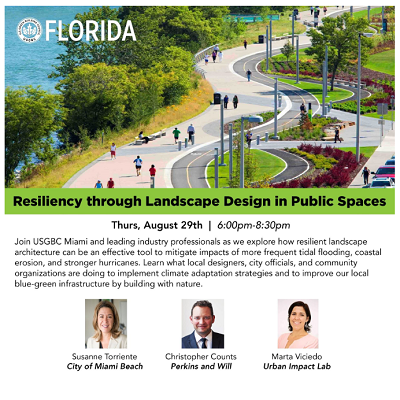 August 29: Resiliency Through Landscape Design in Public Spaces
