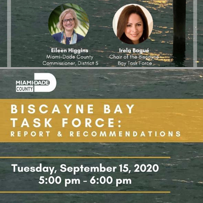 September 15: Biscayne Bay Task Force Report & Recommendations
